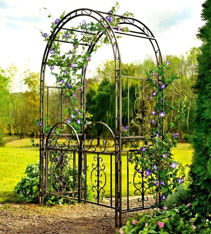 вязаные шапки кованые садовые арки фото всего прибыли